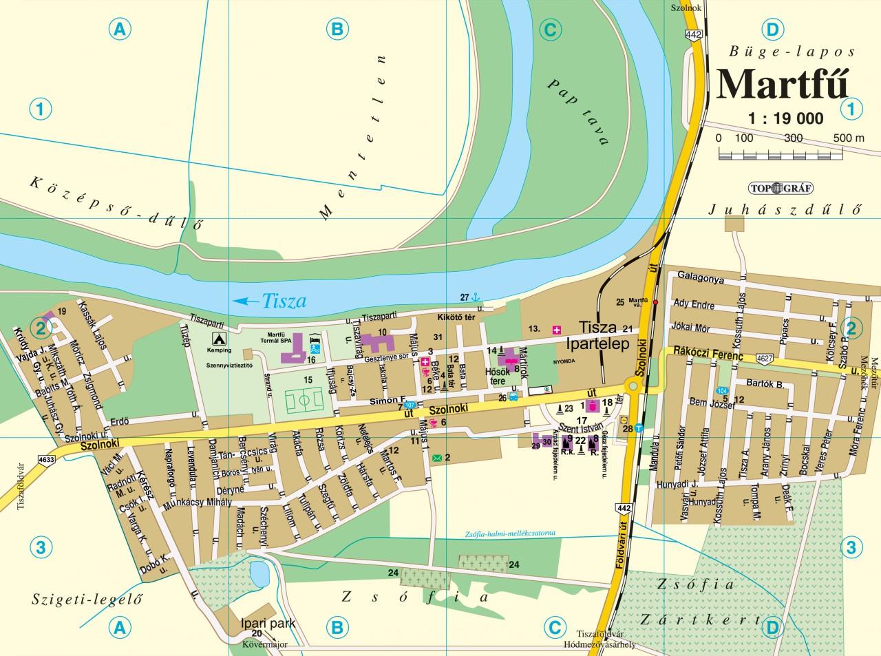 martfű térkép Térkép martfű térkép